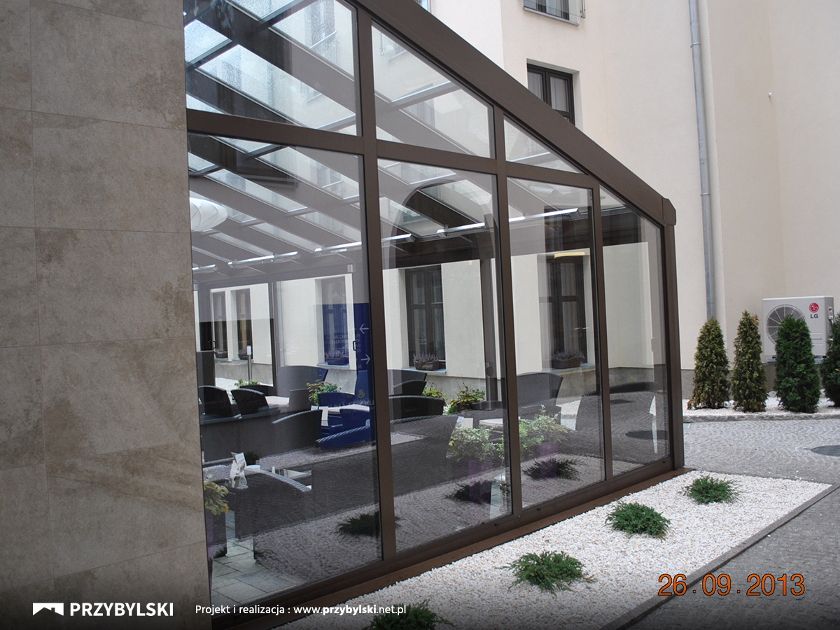 Aluminiowy ogród zimowy