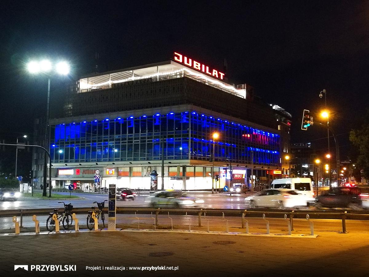 Jubilat nocą Kraków
