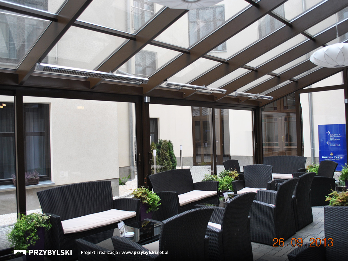 Projekt ogrodu zimowe dla hoteli