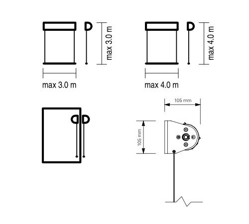 Refleksol XL bezkasetowy wymiary