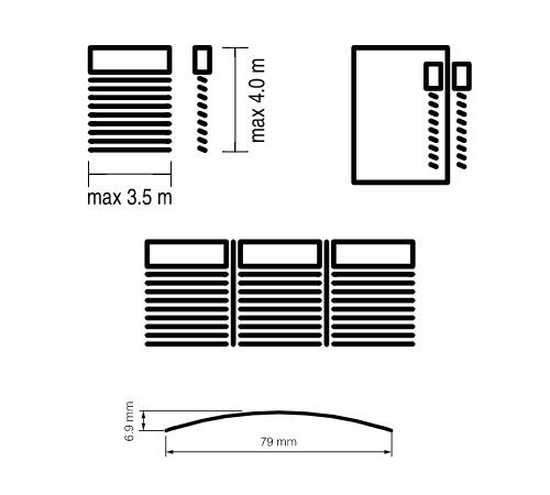 Żaluzja C80 flat wymiary