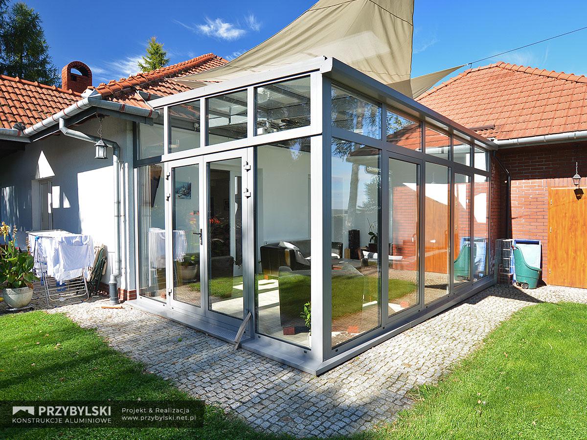 Realizacja ogrodu zimowego pod Krakowem, dobudowa ogrodu zimowego do domu - Firma Przybylski