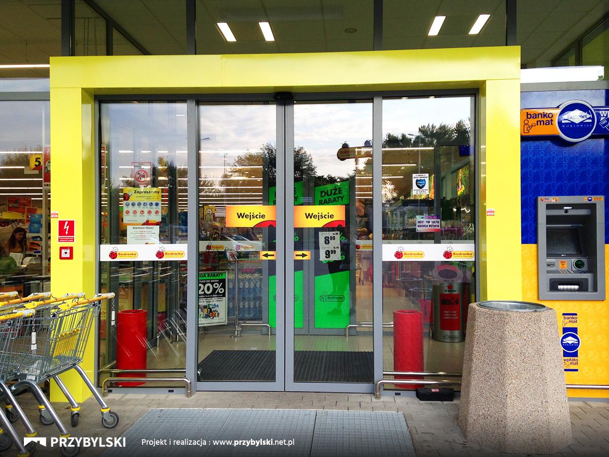 Automatyczne drzwi sklepowe
