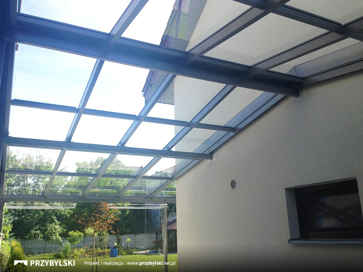 Szklane zadaszenie ogrodu