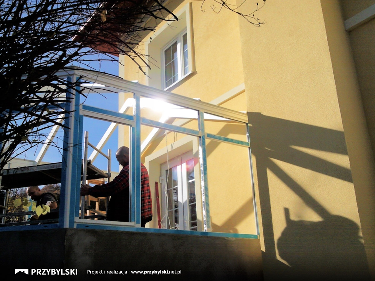 Budowa ogrodu zimowego Tarnów
