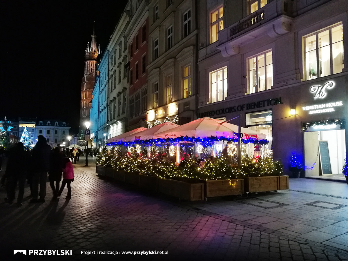 Kraków Rynek Główny Nocą