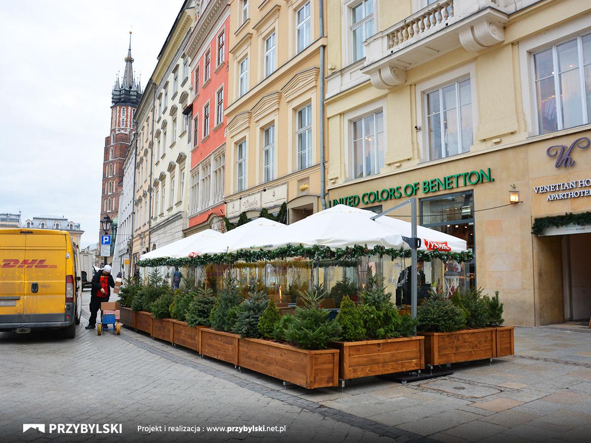 Rynek Kraków ogródek szklany