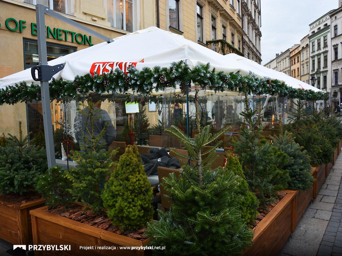 Szklany ogródek na rynku