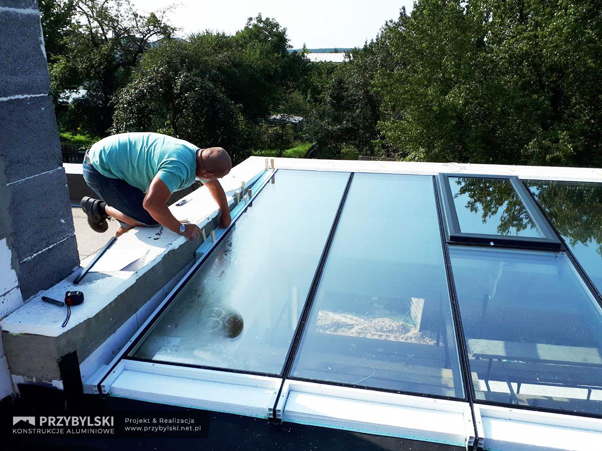 Budowa szklanego dachu 2