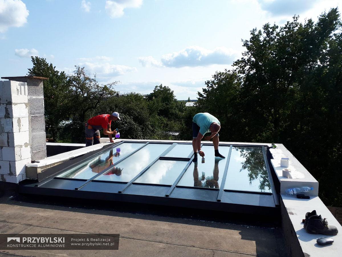 Budowa szklanego dachu 3