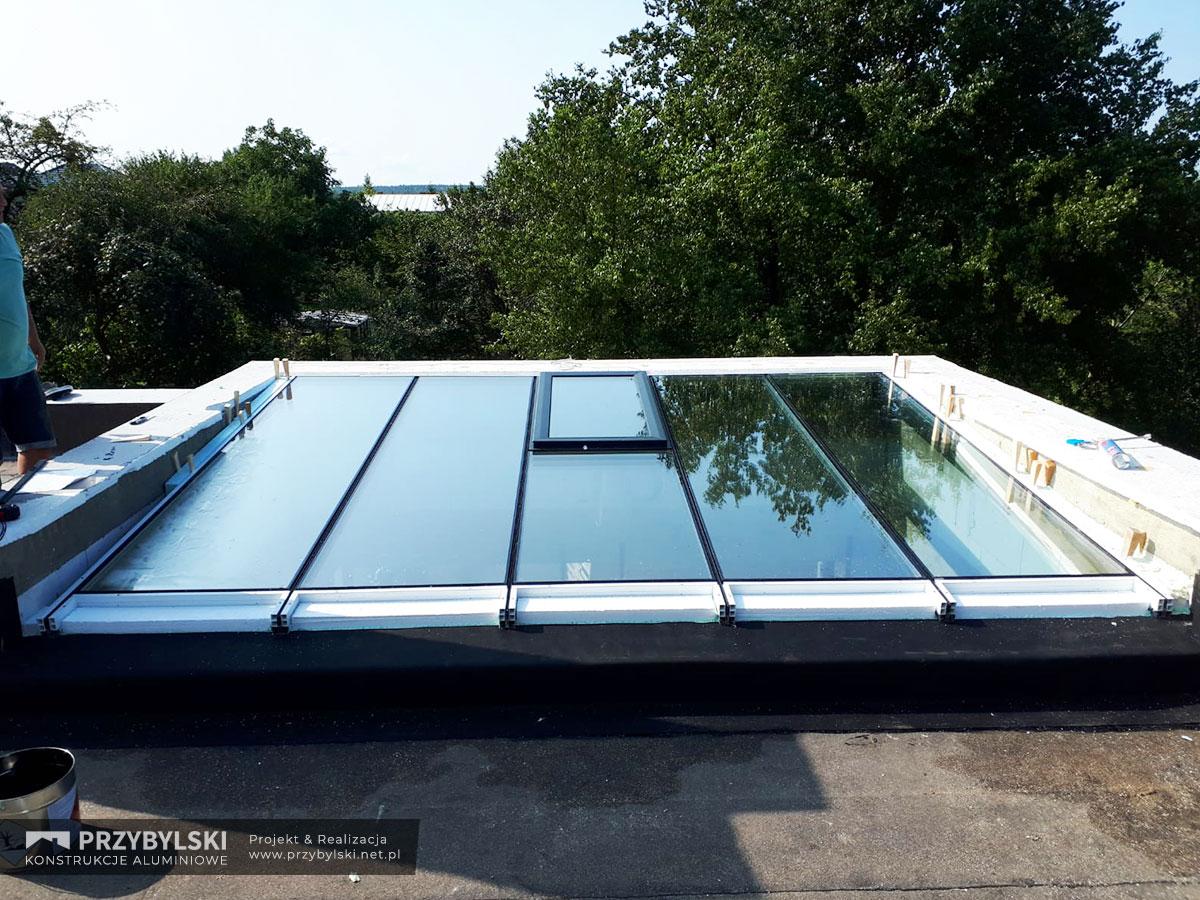 Budowa szklanego dachu 5