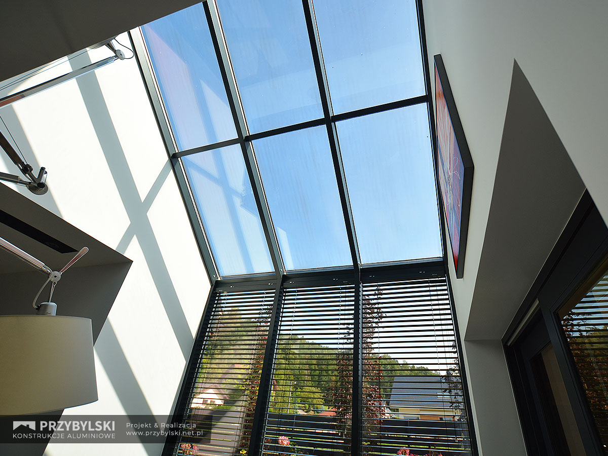 Okno kolankowe szklany dach 0110