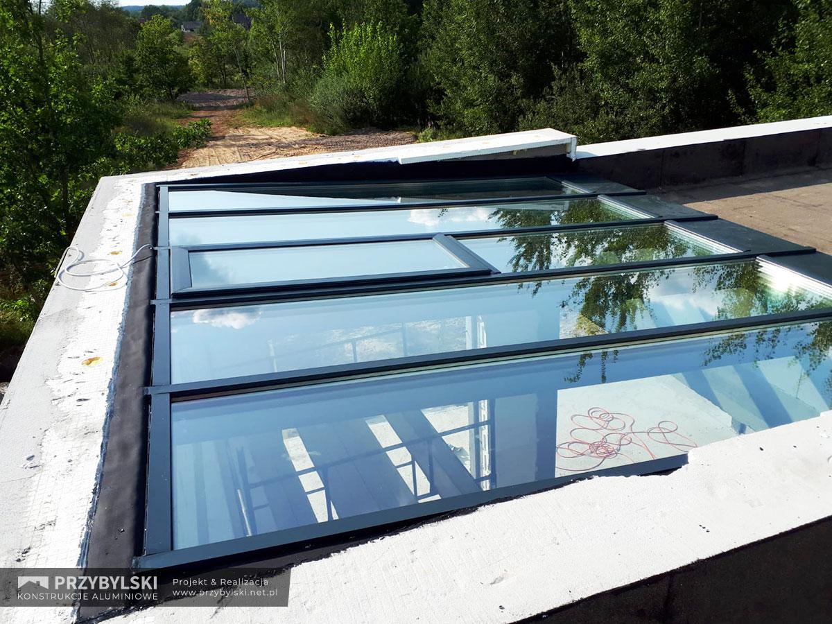Świetlik - szklany dach 0009