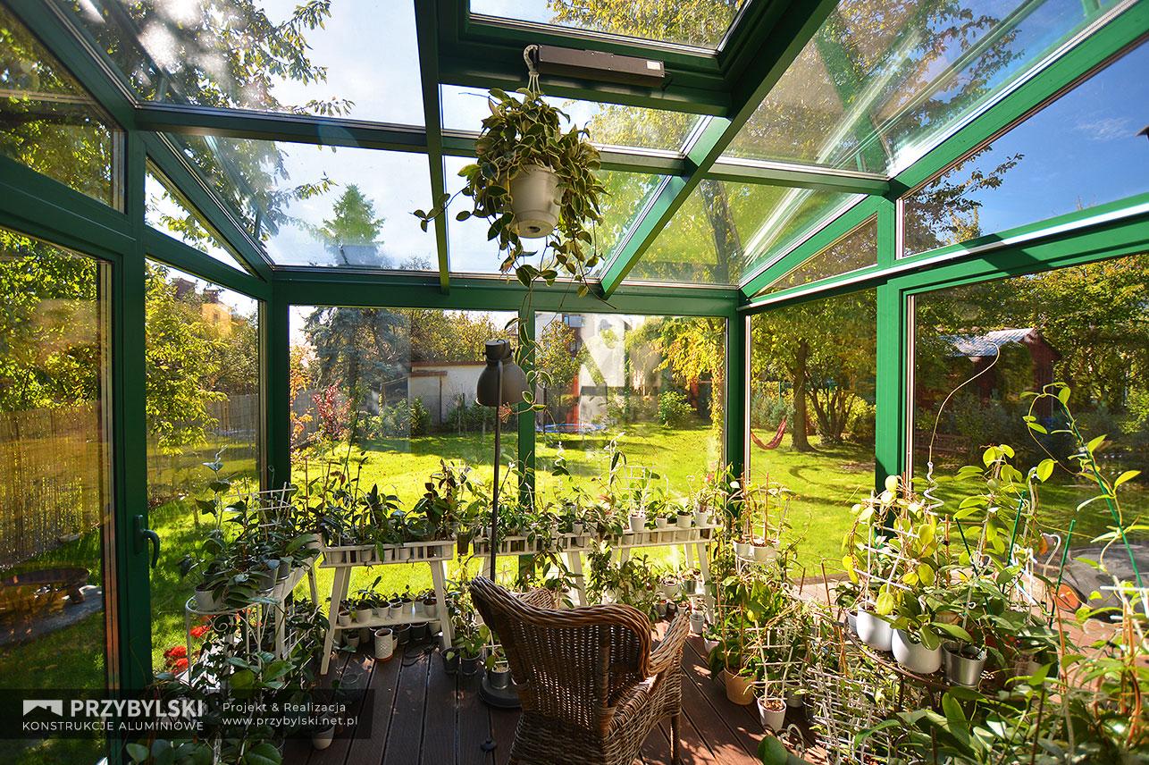 Realizacja ogrodu zimowego przez Firmę Przybylski, zdjęcie ogrodu zimowego